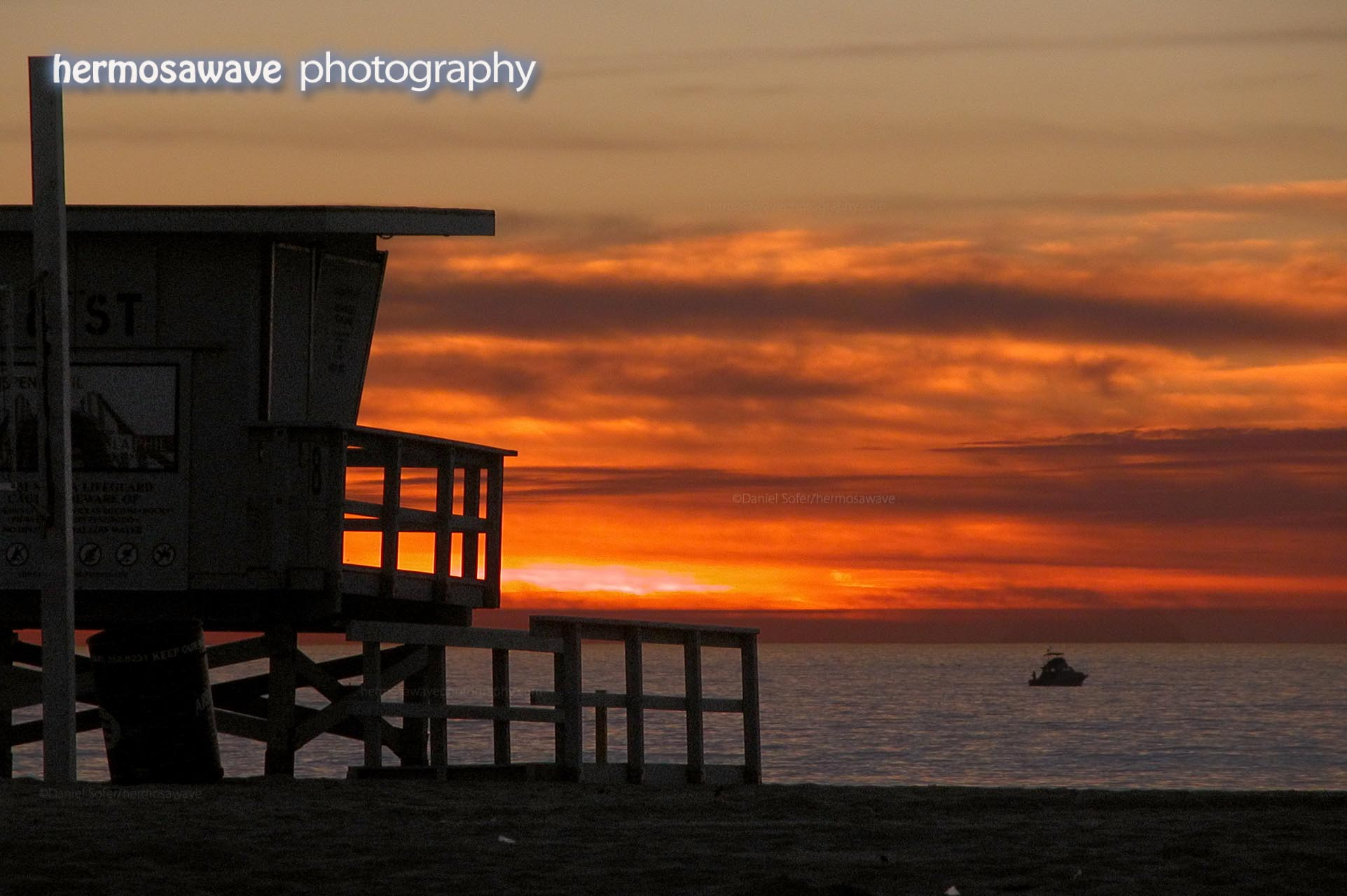 Sunset with Lifeguard Tower