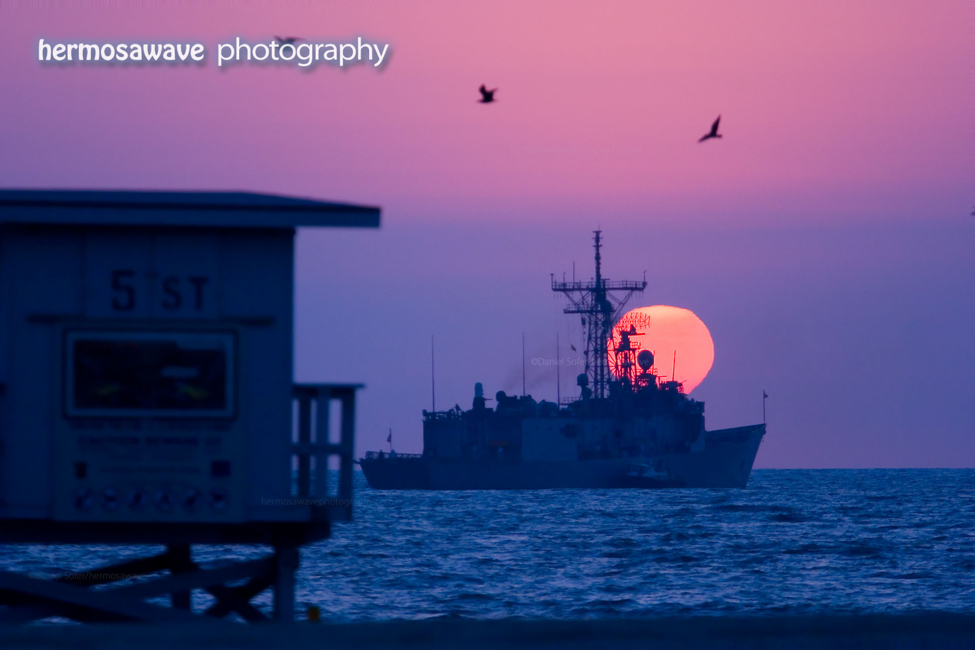 Sun Sets Over The Navy