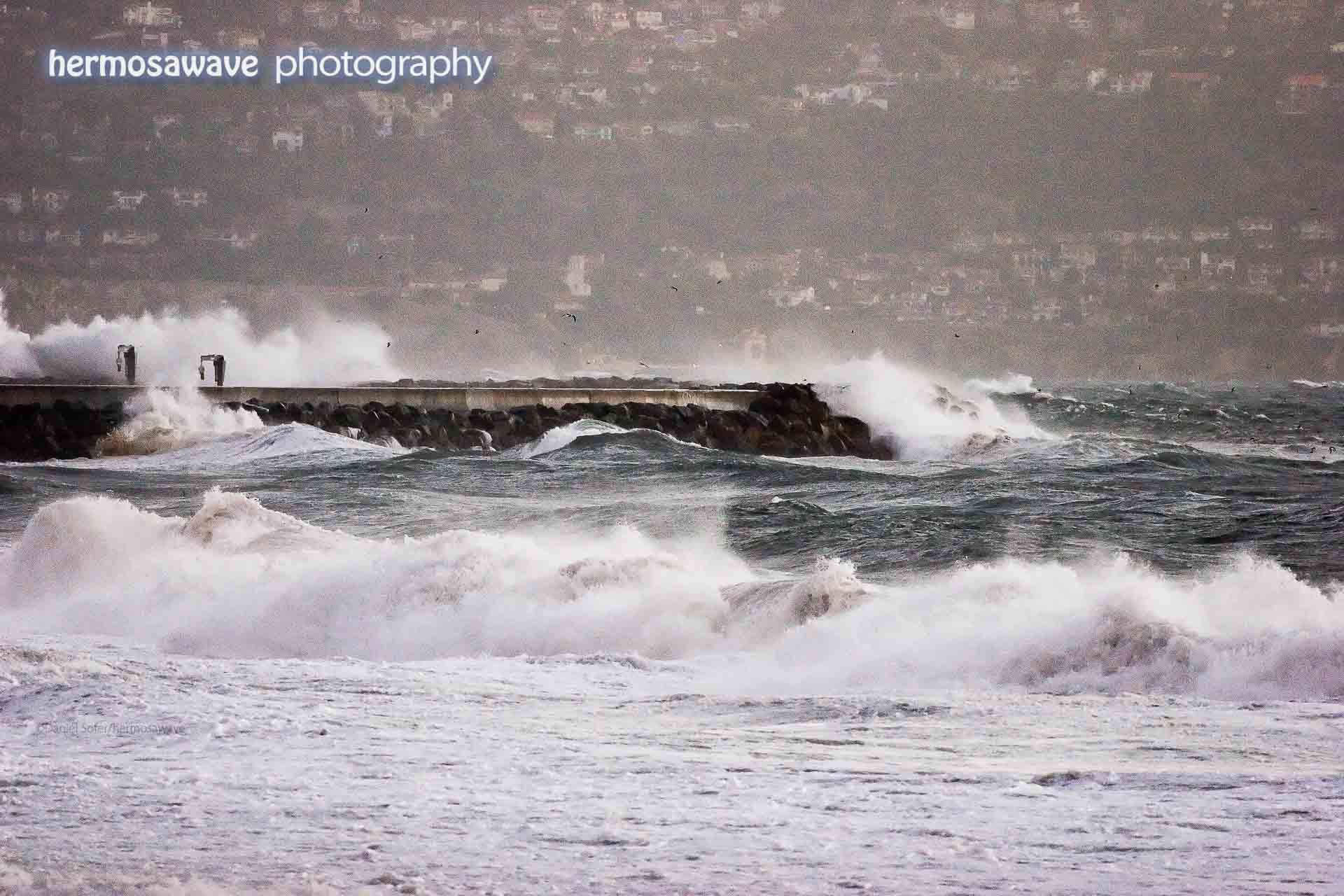 High Surf on the Breakwater