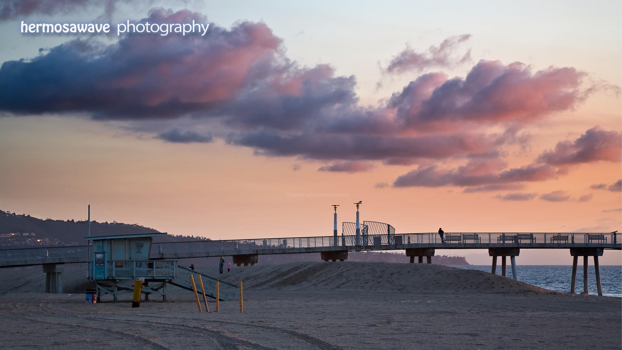 Pink Clouds Over The Pier