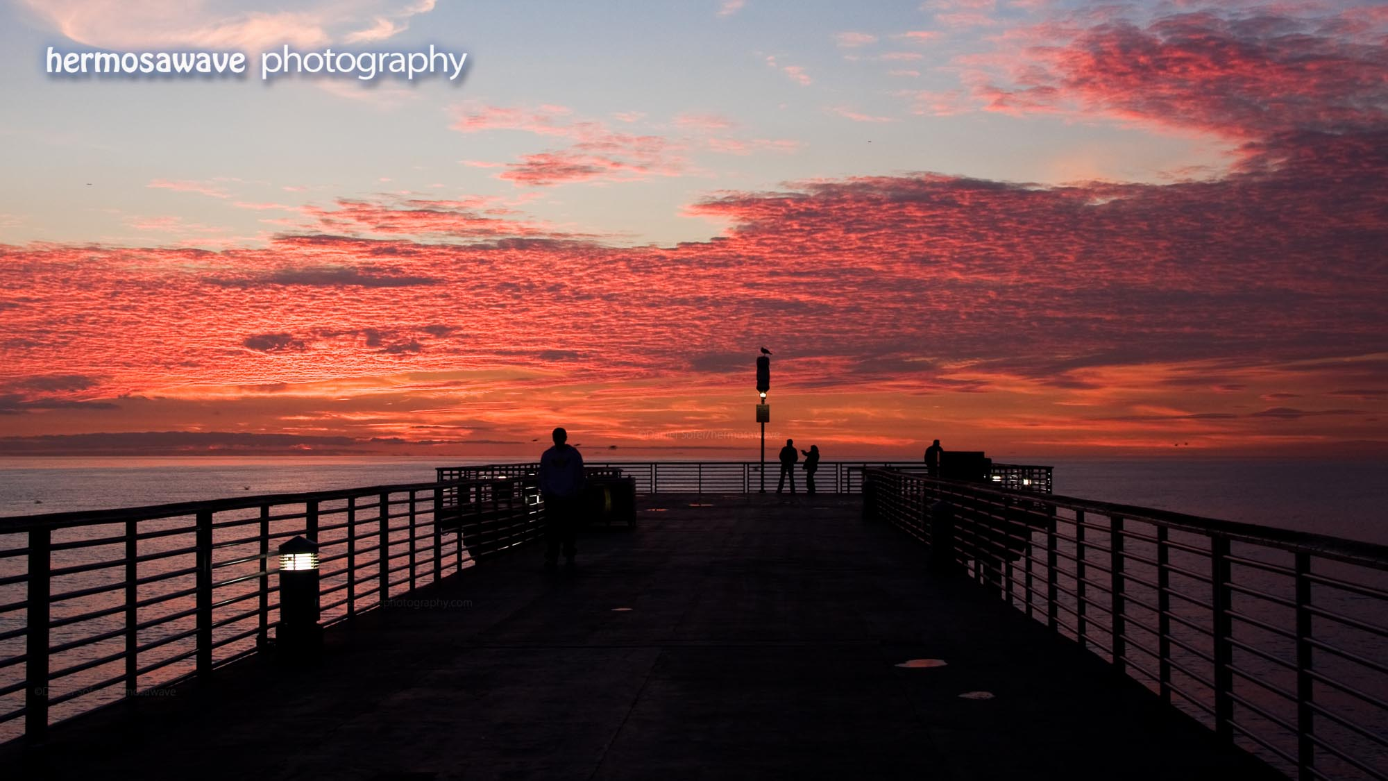 Red Clouds on the Pier