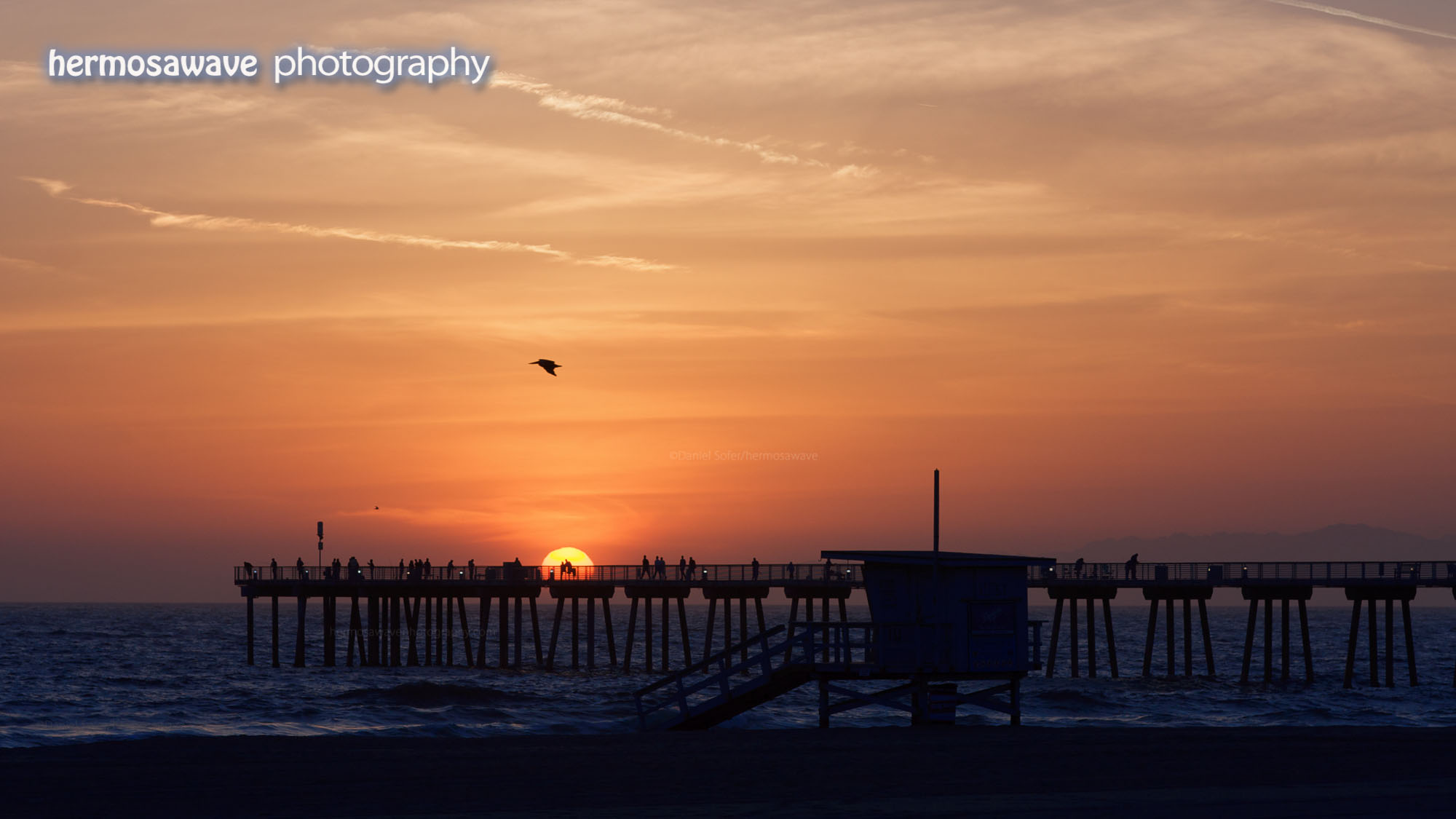 Sunset over the Hermosa Pier