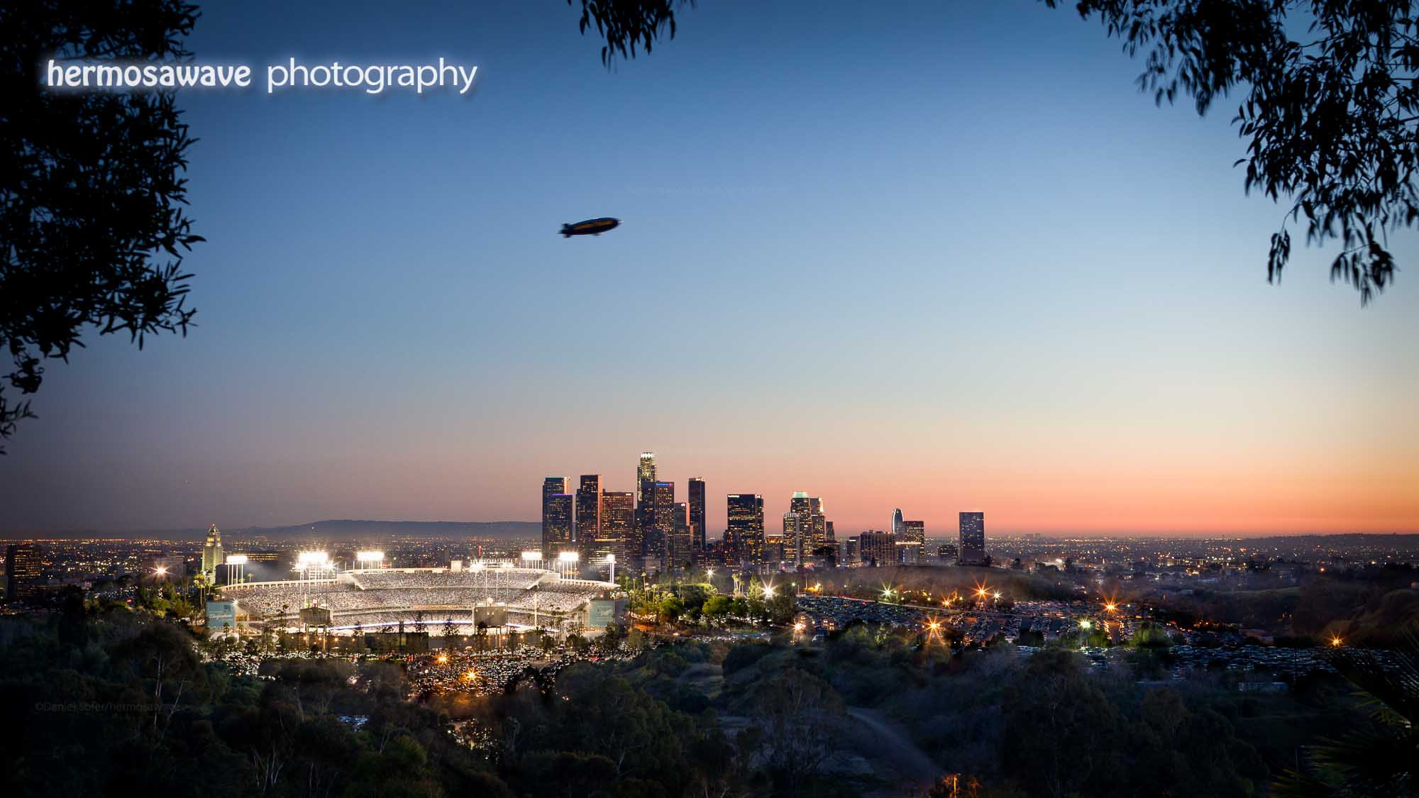 Downtown LA and Dodger Stadium