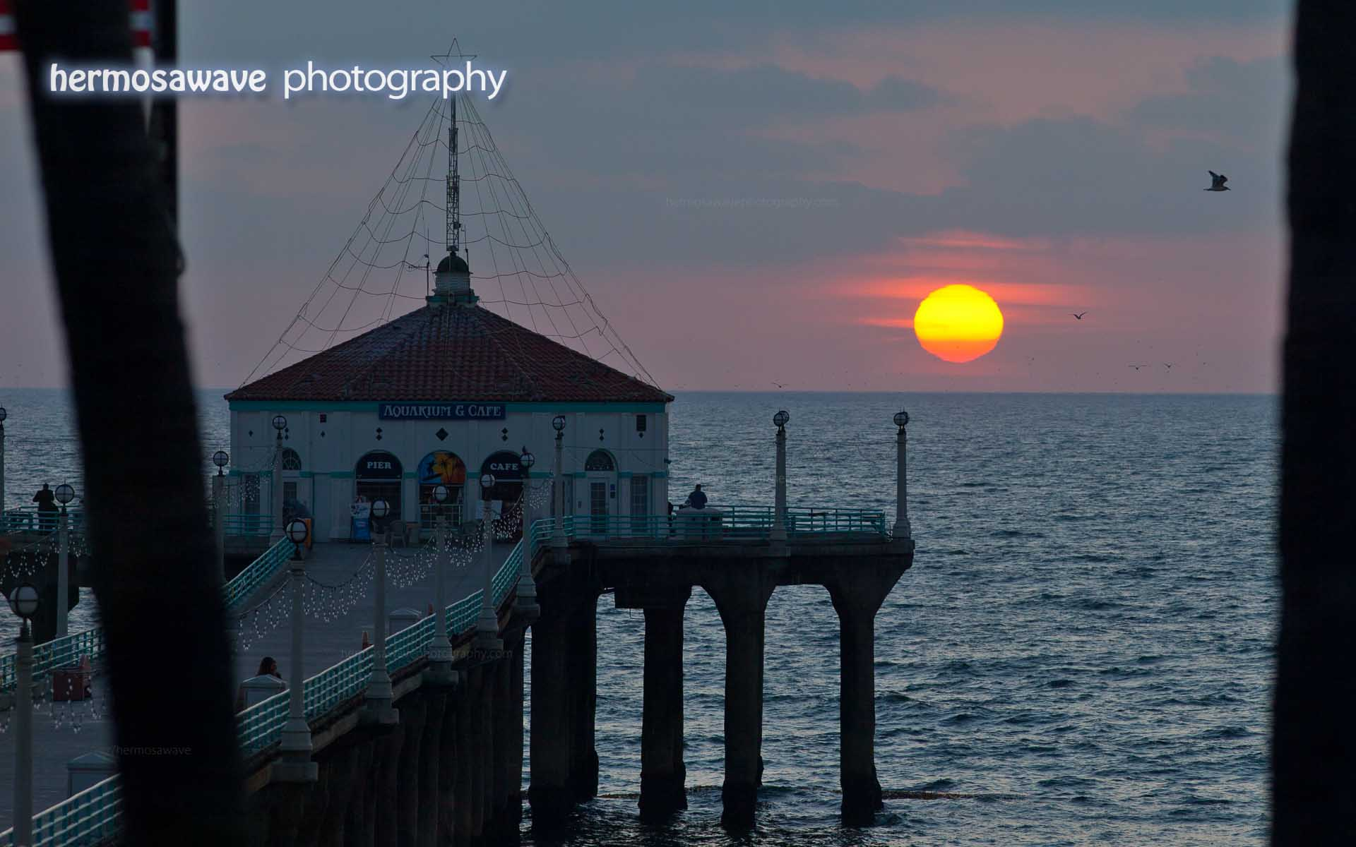 Sunset over the Manhattan Beach Pier