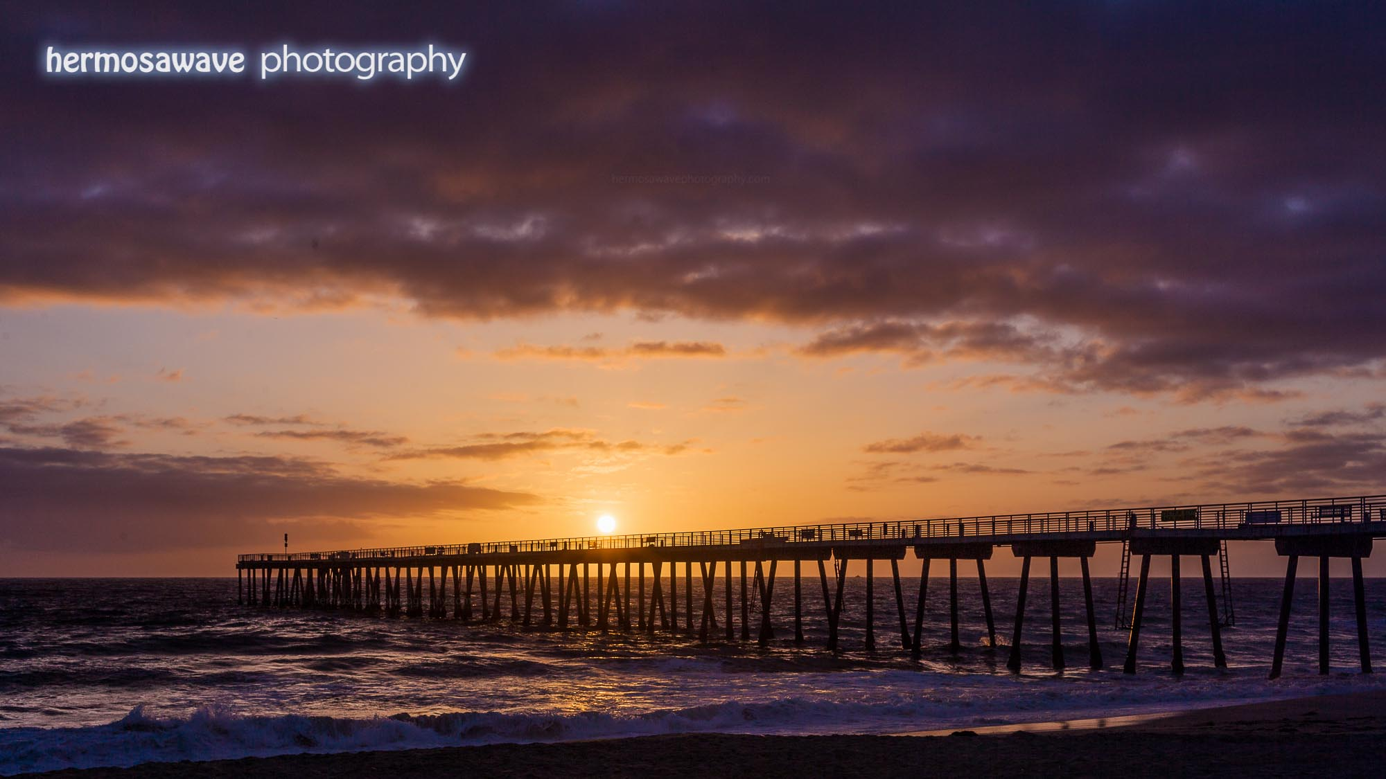 Sunset Over Hermosa Pier