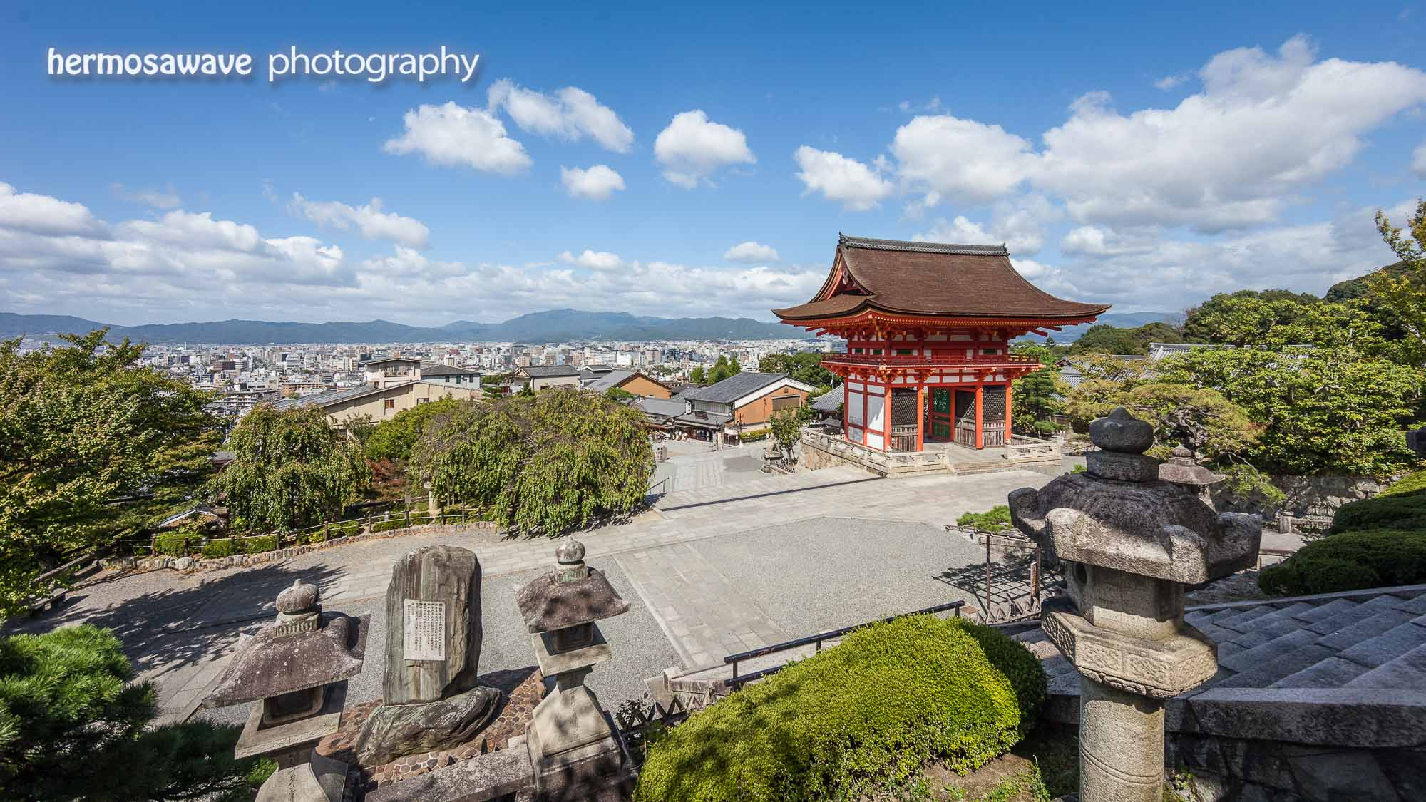 Looking out over Kyoto from Kiyomizudera