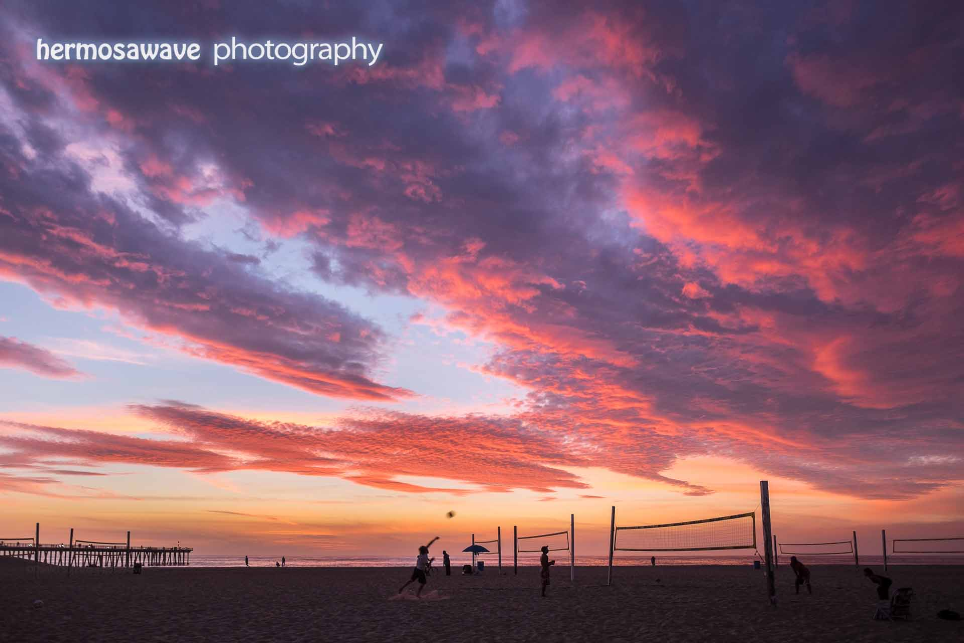 Volleyball Sunset