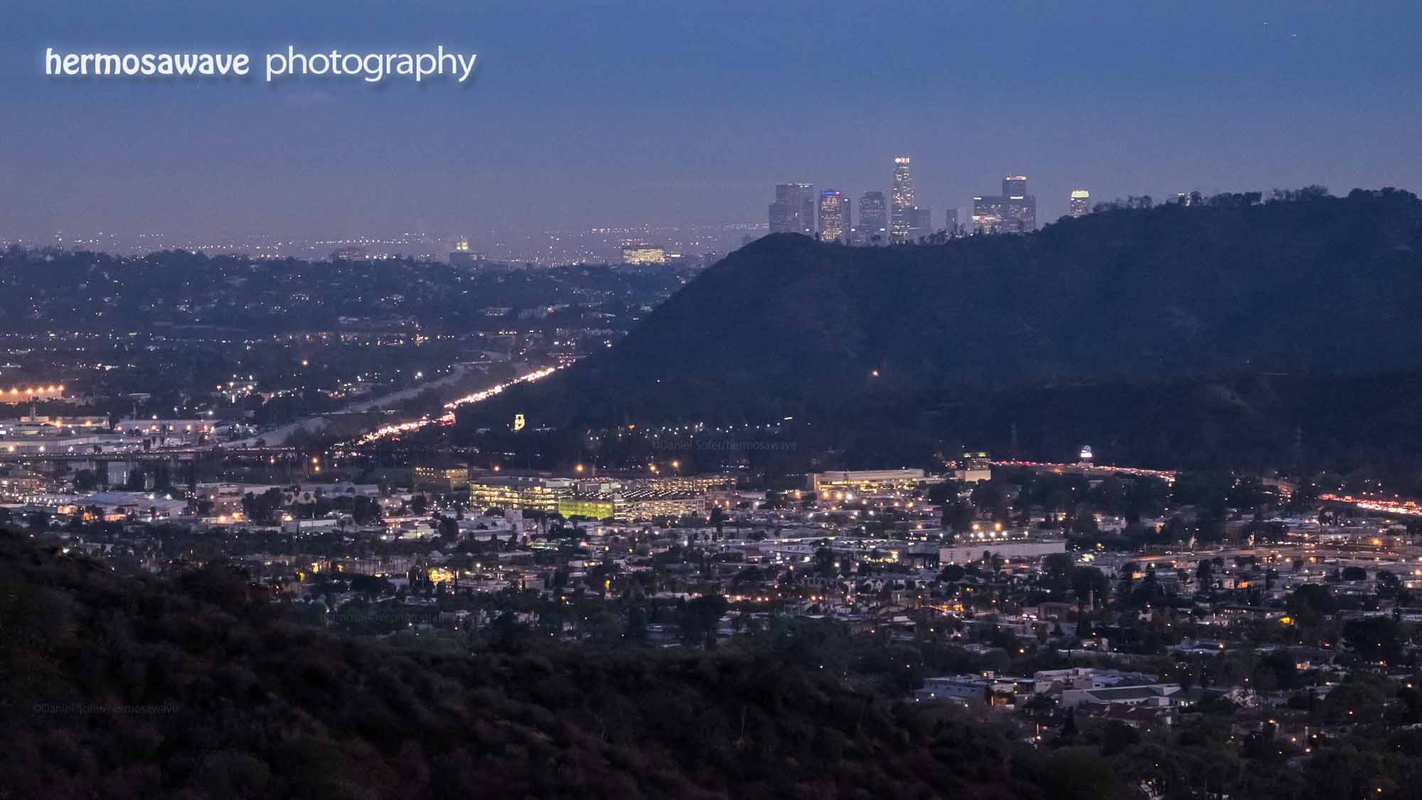 Downtown LA from the Valley