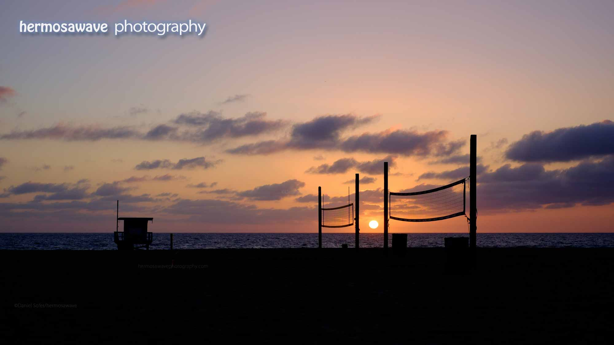 Sunset Between the Nets