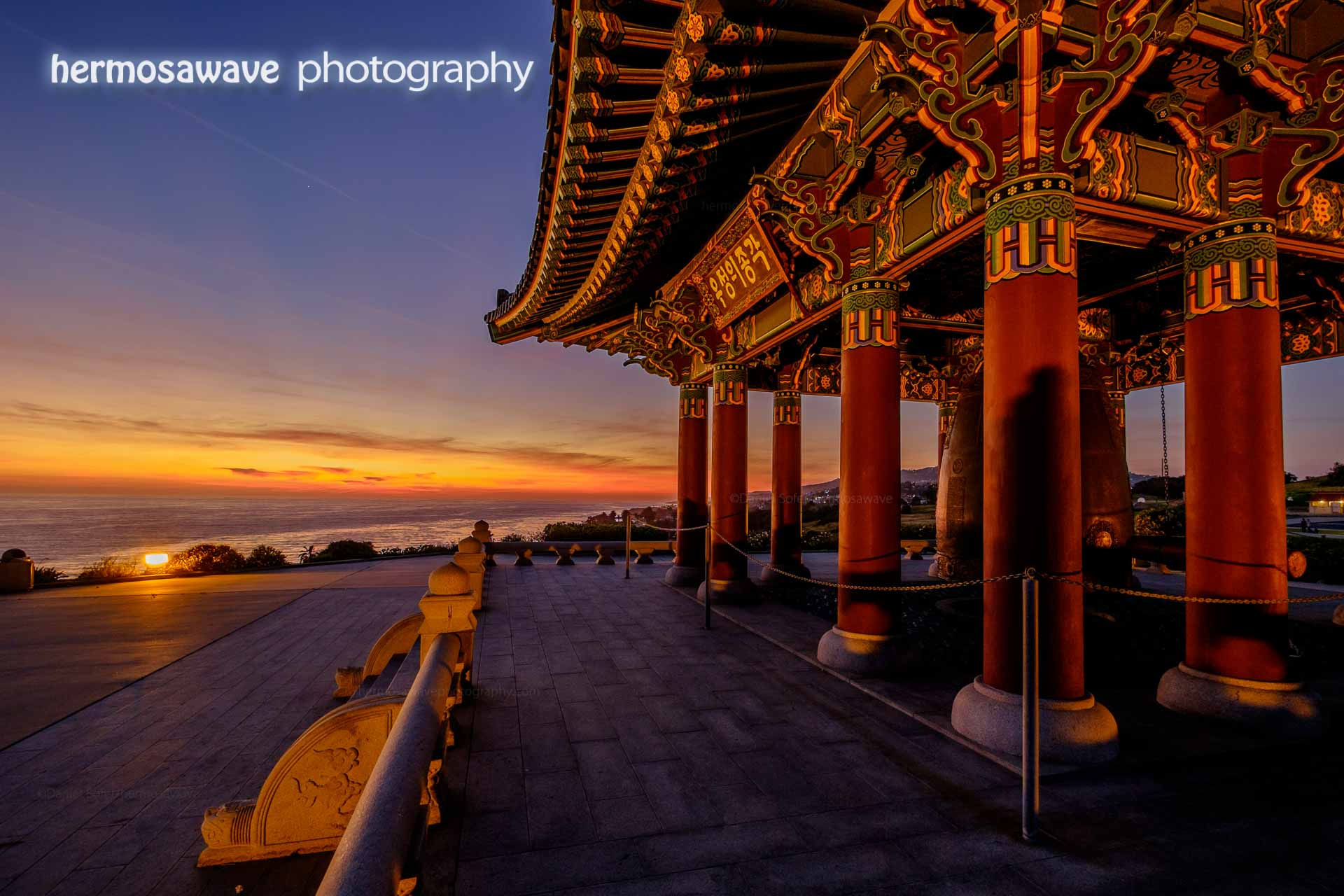 Dusk at the Korean Bell
