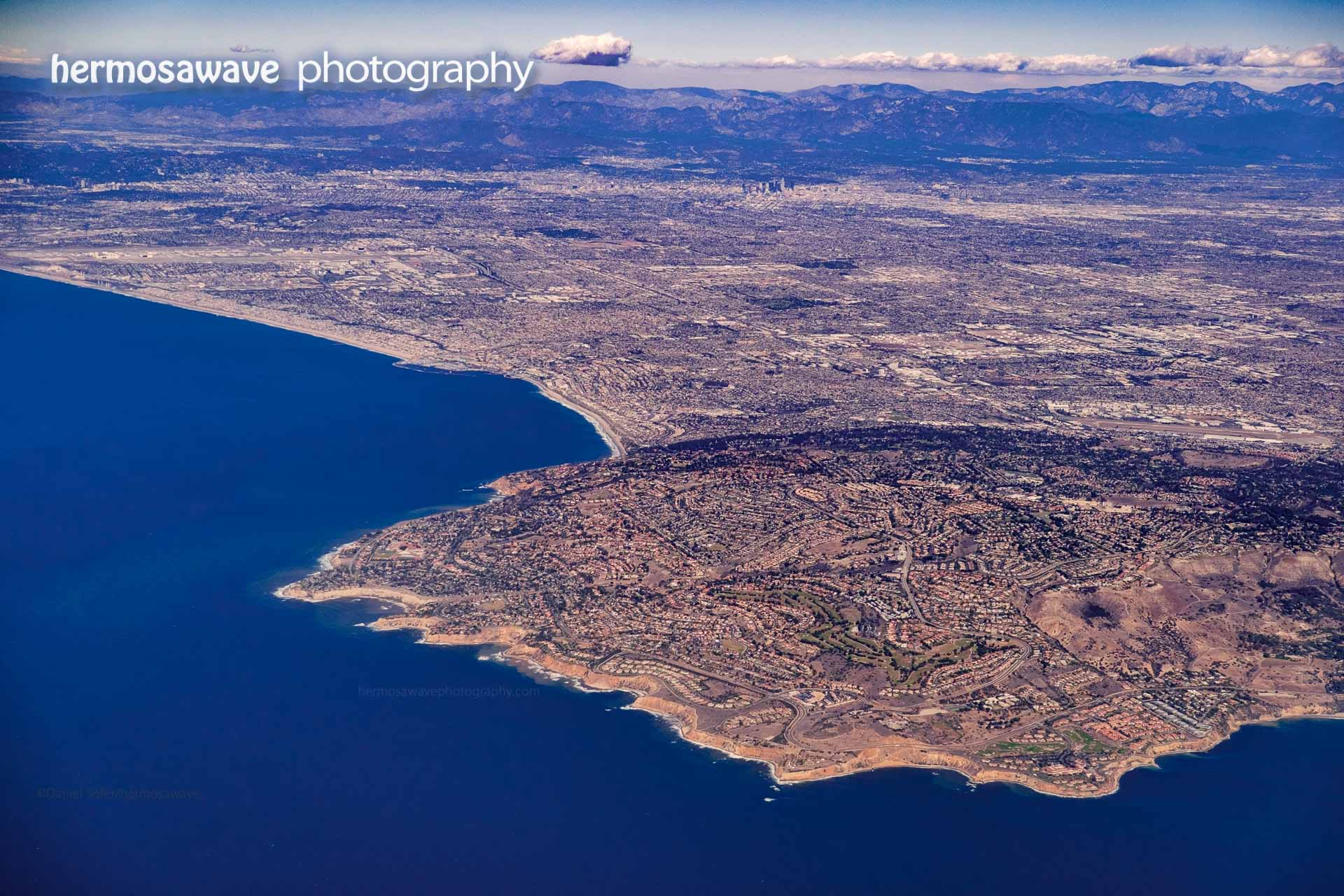 Palos Verdes and Los Angeles from the Air