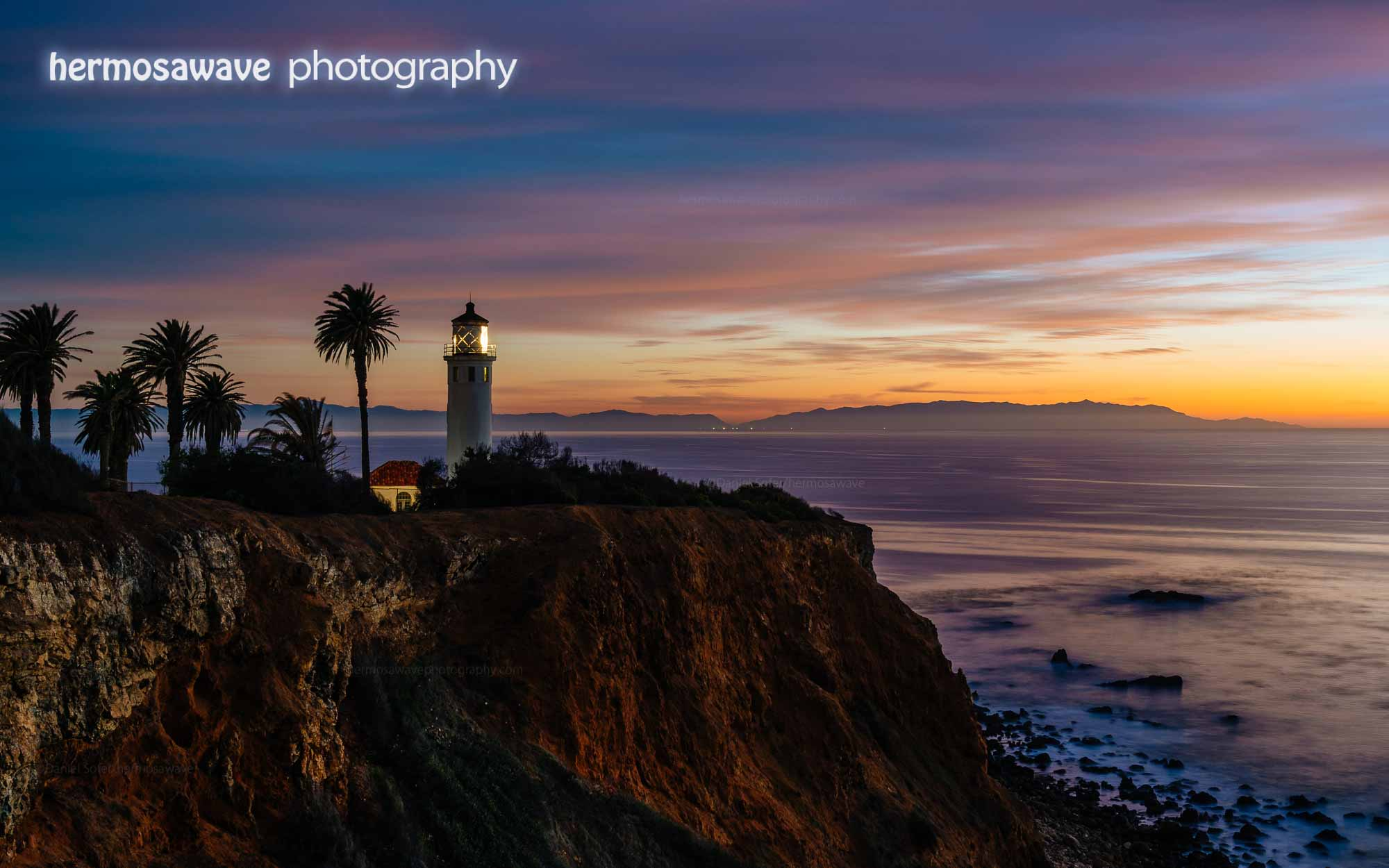 Point Vicente Lighthouse and Catalina Island