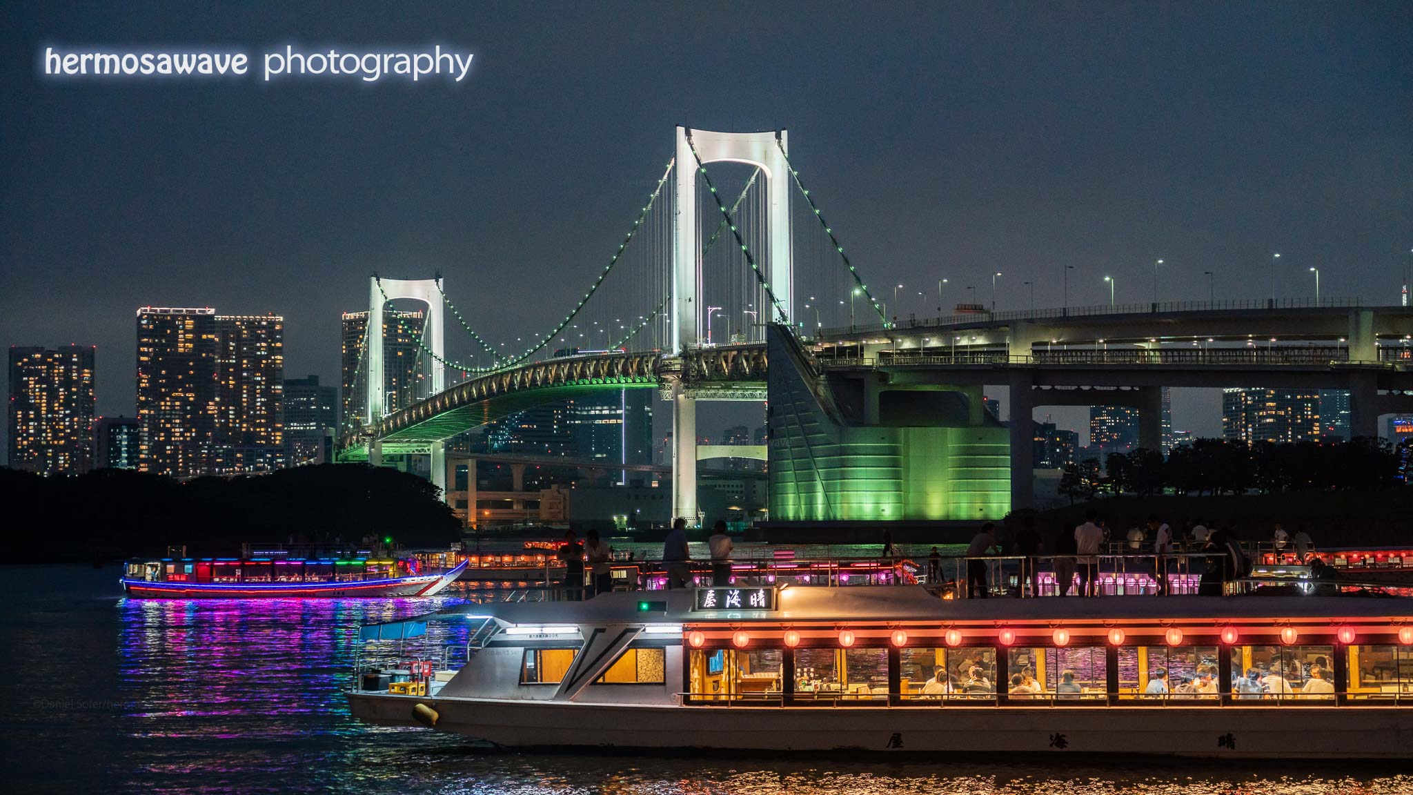 Party Boats Under the Rainbow Bridge