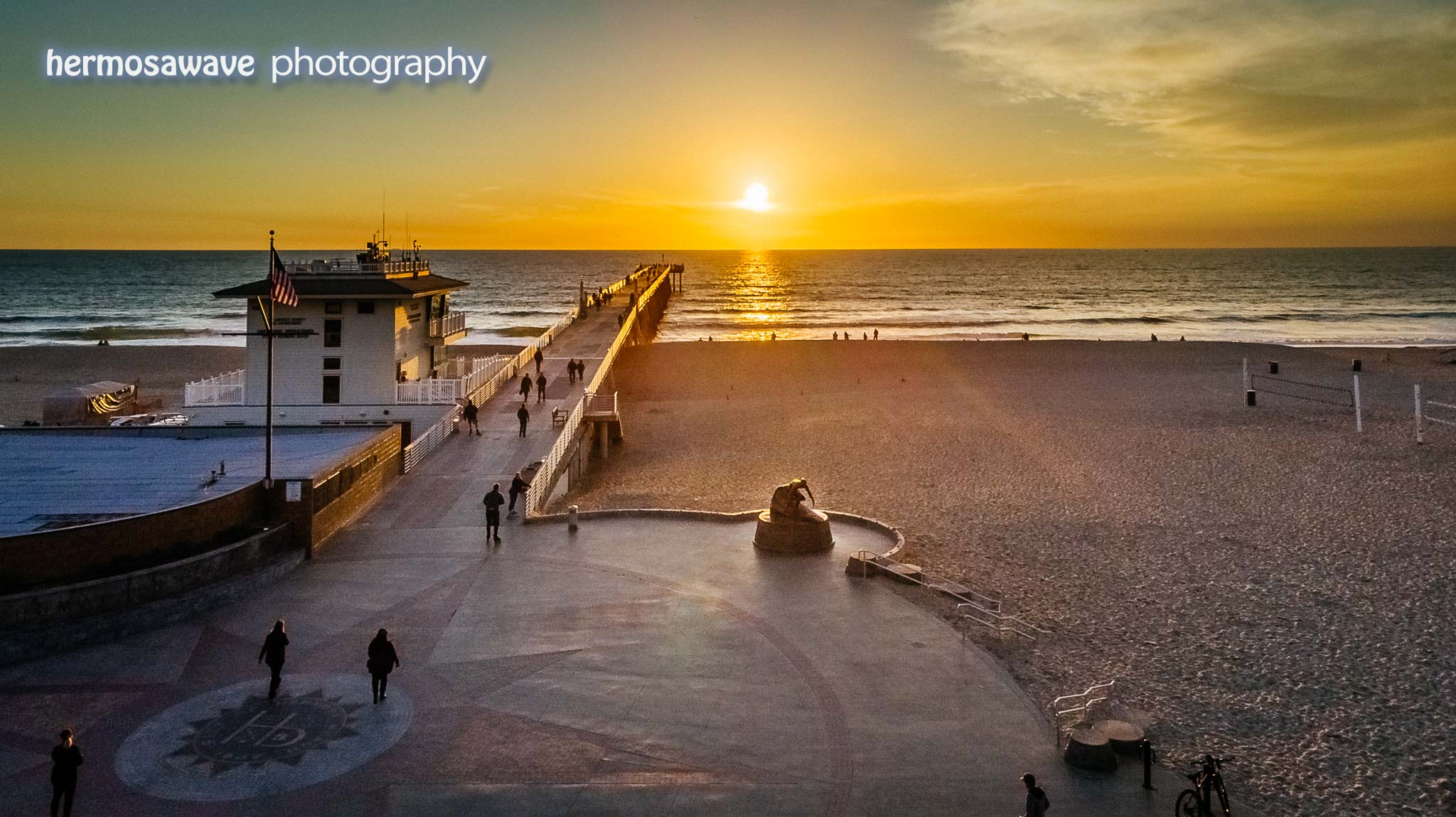 Sunset Above the Hermosa Pier