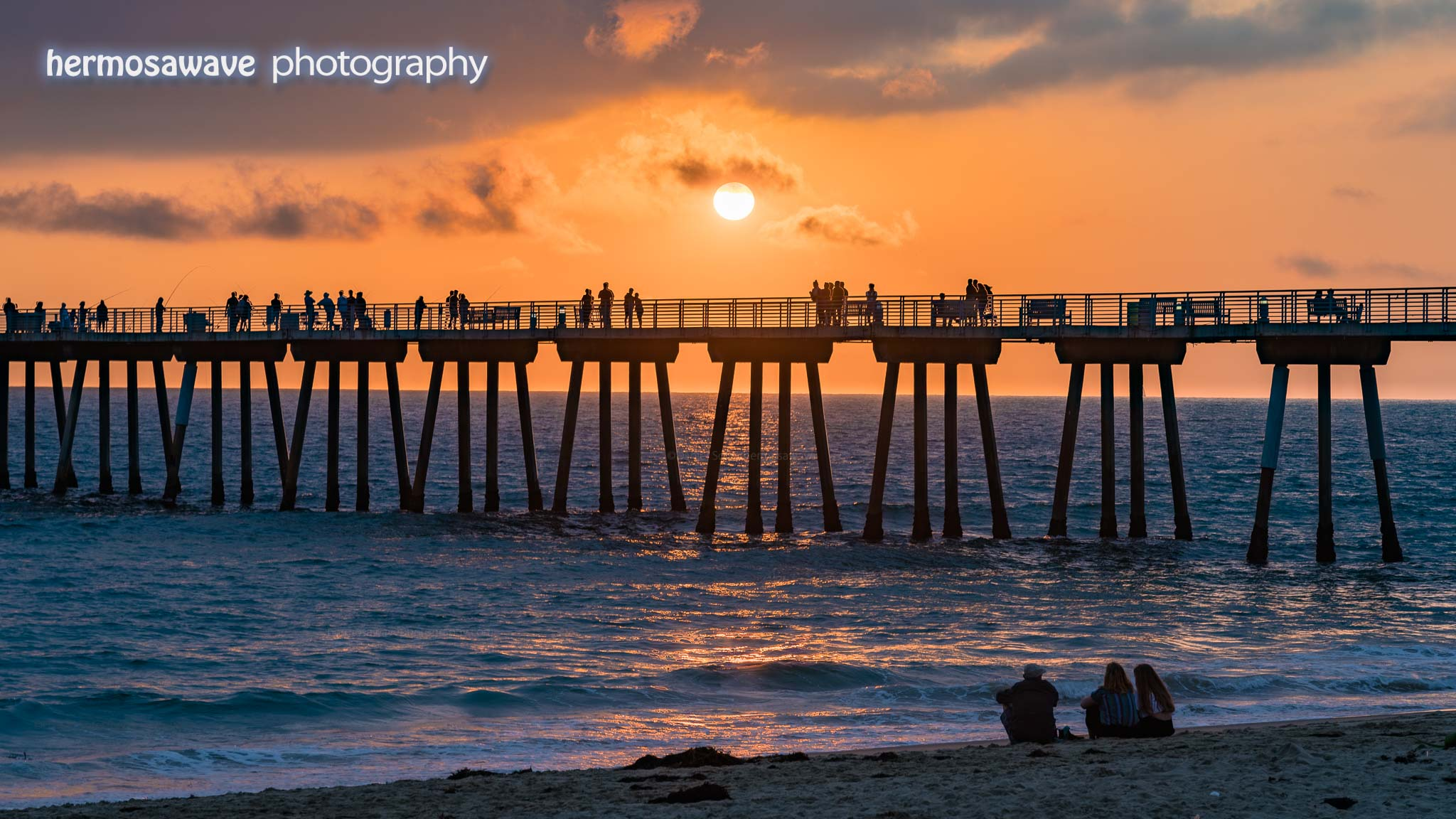 Summer Sun at the Hermosa Pier