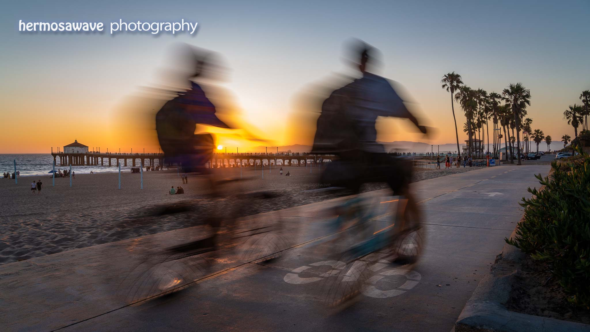 Riding on the Strand at Sunset
