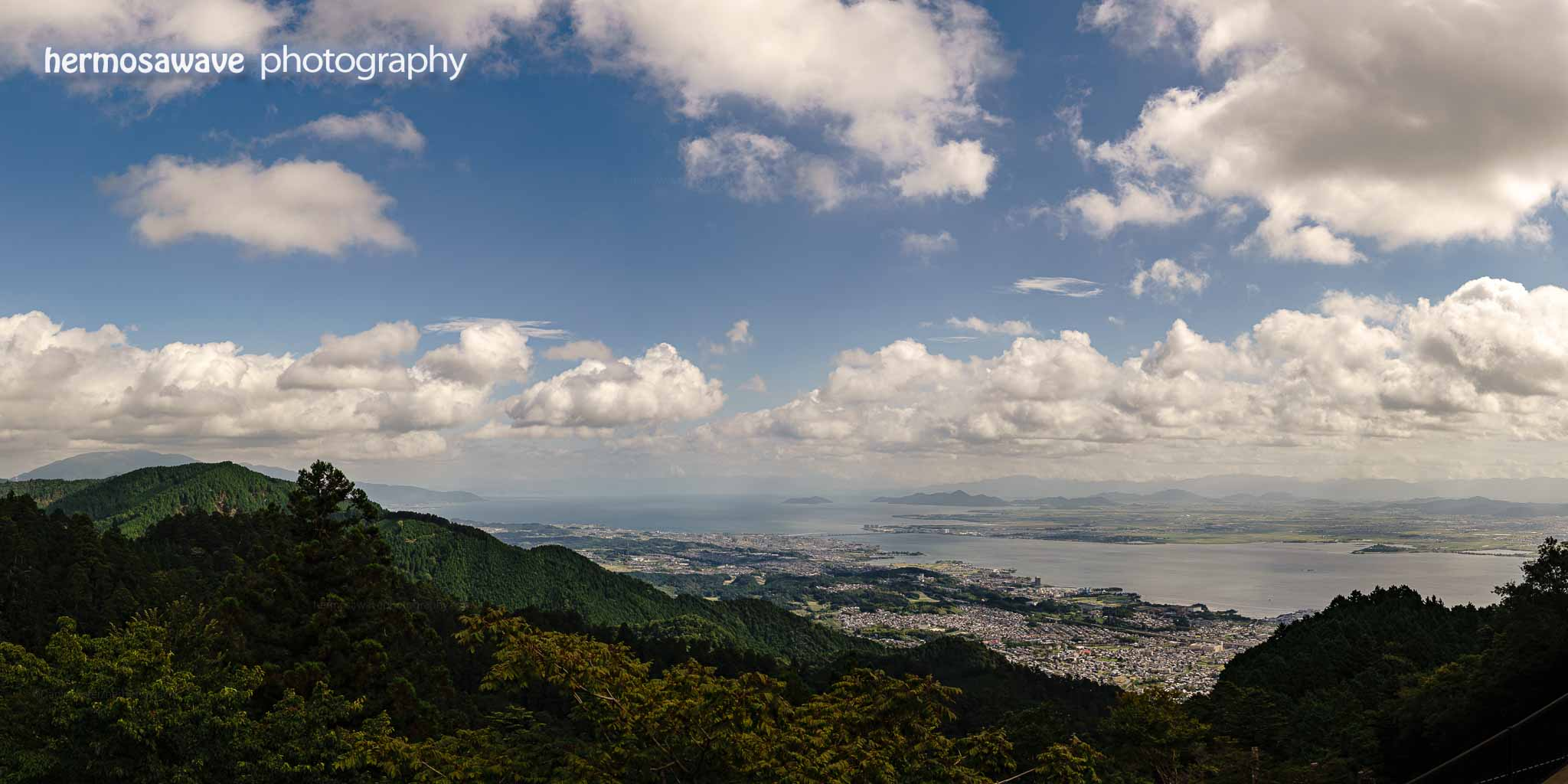 Looking Out from Mt. Hiei・比叡山からの眺め