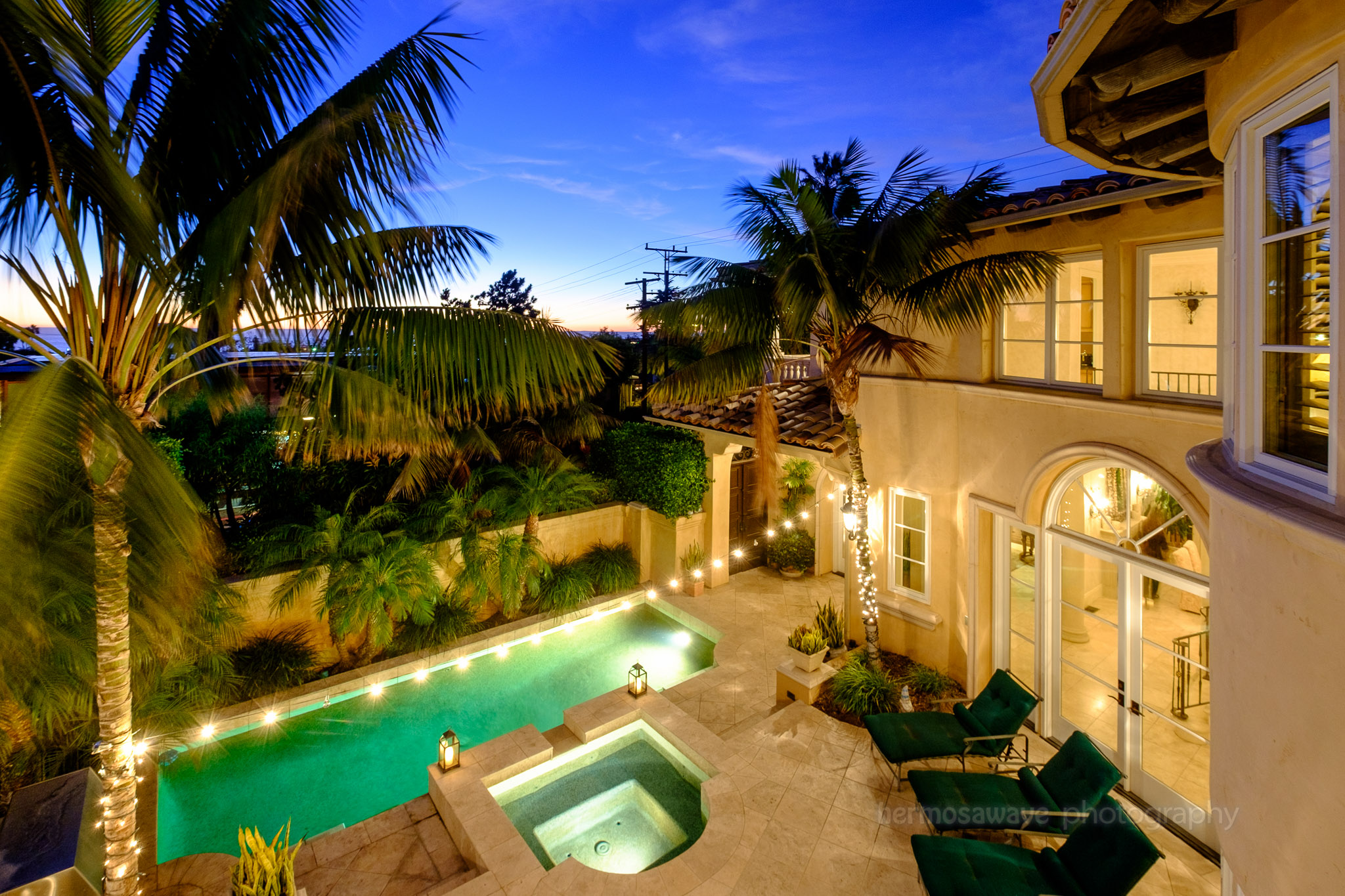 Mediterranean Courtyard, Manhattan Beach, California